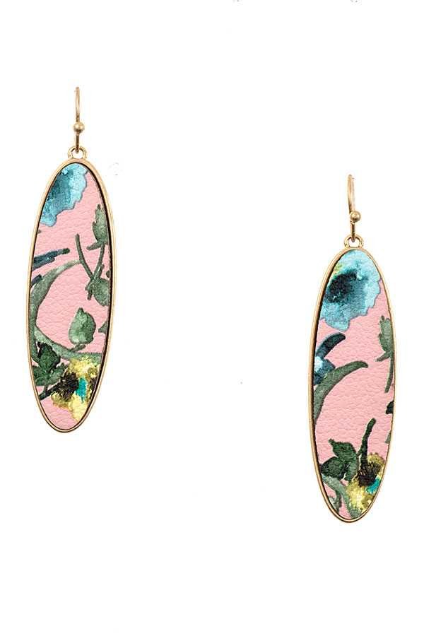 Accessory - Oval Drop Bezel Set Dangle Earring