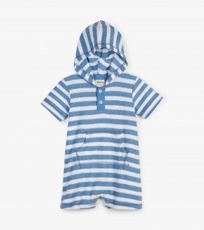 Romper - Hatley Kids Striped Hooded Romper