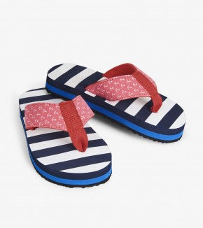 Footwear - Hatley Kids Nautical Stripes Flip Flops