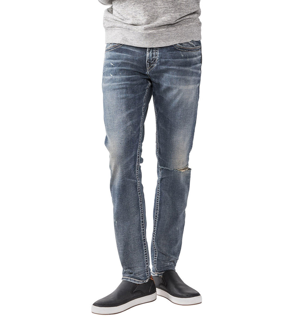 Pants - Silver Jeans Men's Taavi Distressed Denim Jeans