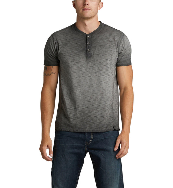 Top - Silver Jeans Koby Short Sleeve Henley Tee