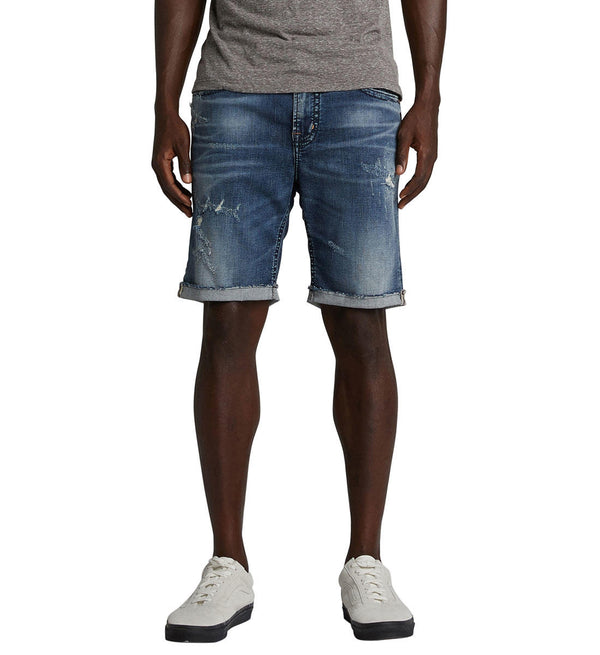Shorts - Silver Jeans Allan Men's Distressed Denim Shorts