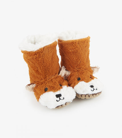 Accessory - Hatley Kids Fox Fuzzy Slouch Slippers