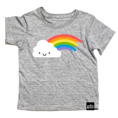 Top - Whistle & Flute Kids Kawaii Rainbow Tee