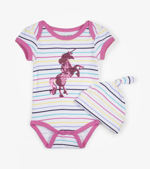 Onesie - Hatley Kids Rainbow Unicorn Onesie With Hat
