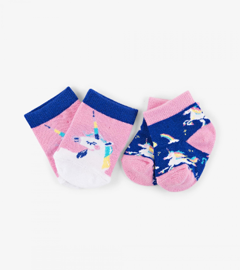 Accessory - Hatley Kids Rainbow Unicorns Socks (2 Pack)