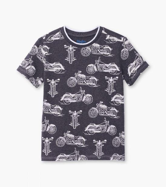 Top - Hatley Kids Motorcycles Graphic Tee
