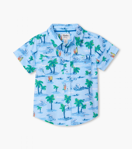 Top - Hatley Kids Hawaiian Tropics Button Down Shirt