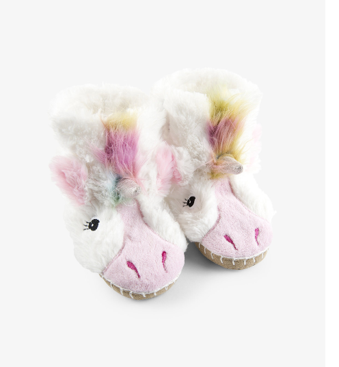 Accessory - Hatley Kids Unicorn Fuzzy Slouch Slippers