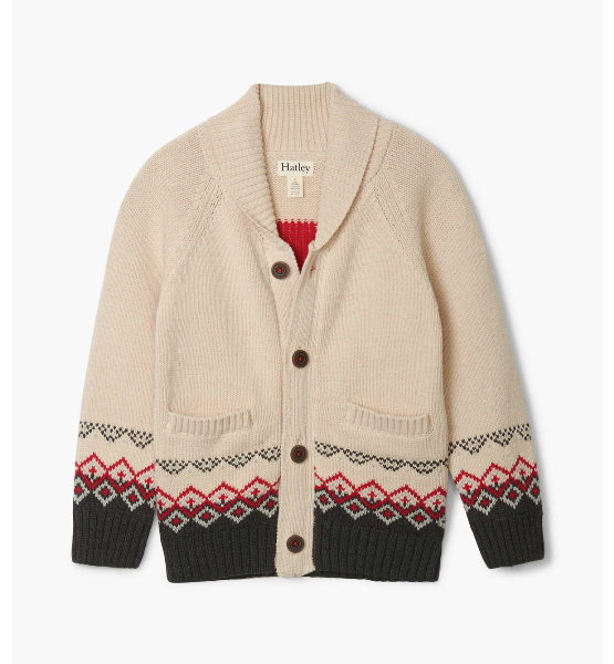 Top - Hatley Kids Majestic Stag Shawl Collar Cardigan