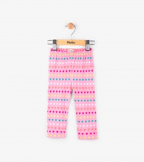 Pants - Hatley Kids Heart Stripe Mini Leggings