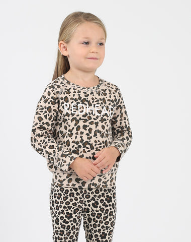 "Top - Brunette The Label Kids 'Redhead"" Leopard Crew"