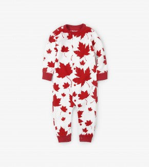Pyjama - Hatley Unisex Maple Leaves Union Suit