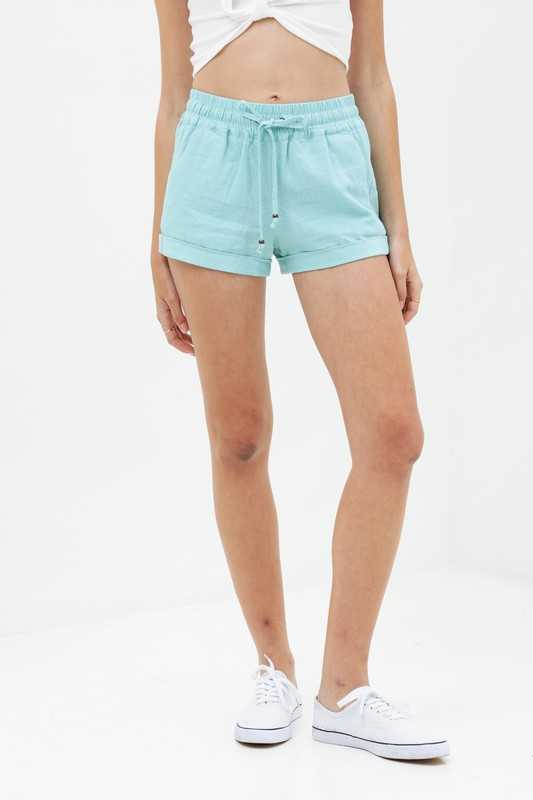 Shorts - Elastic Waist Pocket Detail Shorts