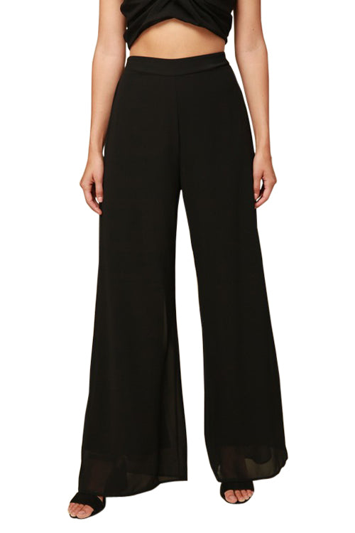 Pants - High Waist Palazzo Pants