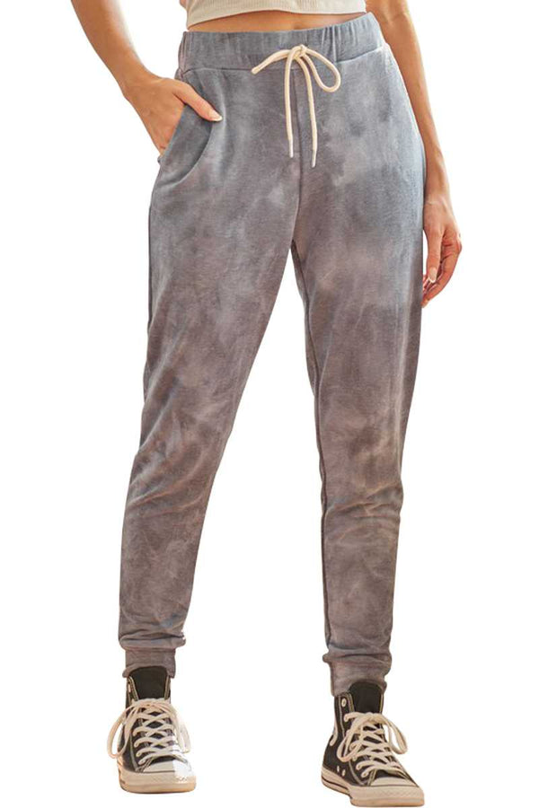 Pants - Tie Dye Drawstring Jogger Pants