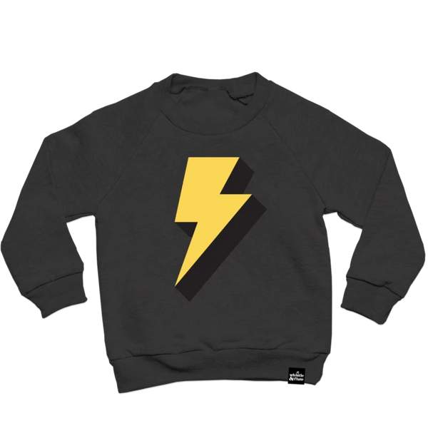 Top - Whistle & Flute Kids Lightning Bolt Sweatshirt