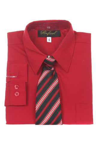 Top - Boys Dress Shirt With Tie