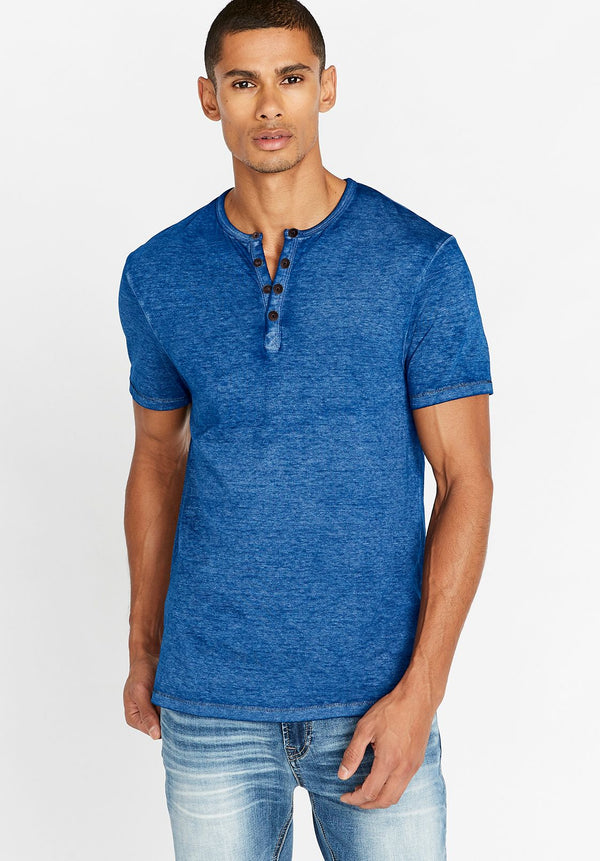 Top - Buffalo Kasum Short Sleeve Henley Tee