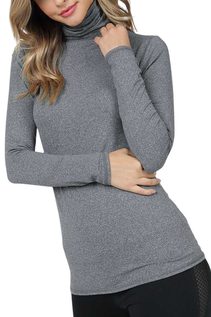 Top - Long Sleeve Turtle Neck Top