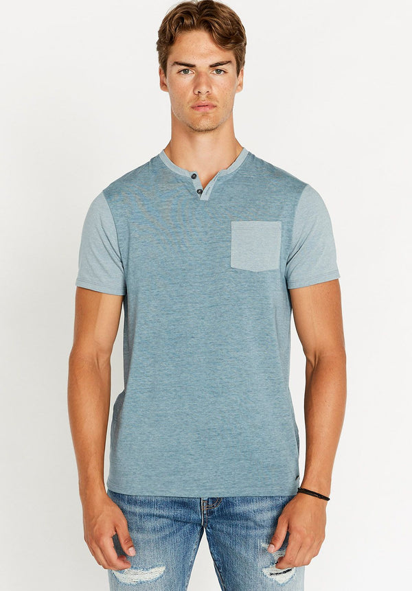 Top - Buffalo Kaddy Short Sleeve Henley Pocket Tee