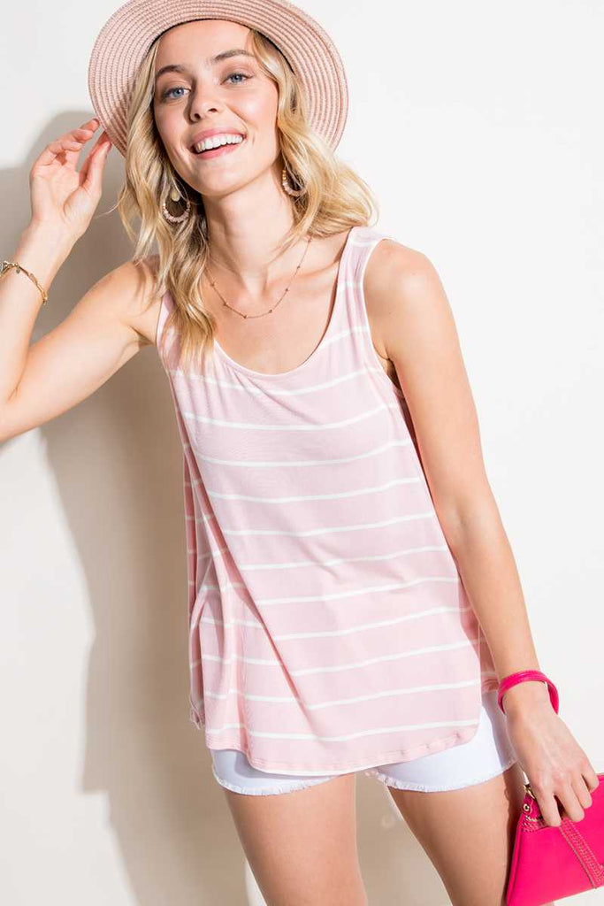 Top - Stripe Jersey Tank Top