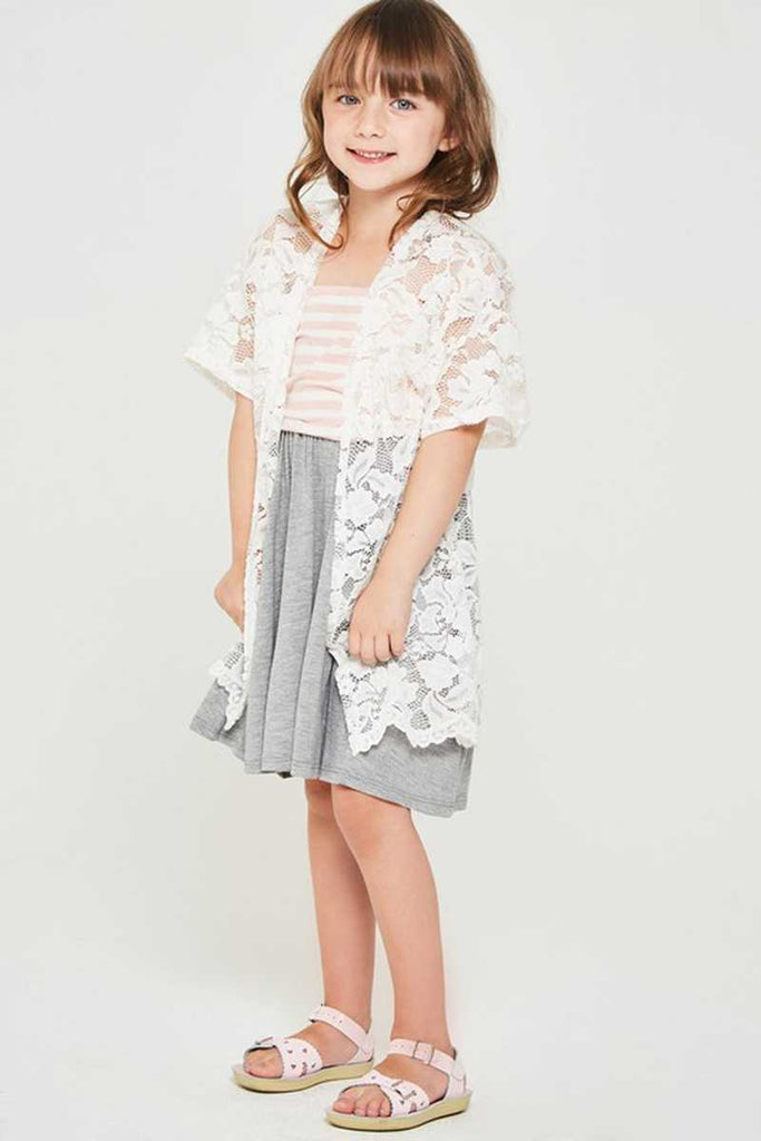 Top - Kids Sheer Lace Cardigan