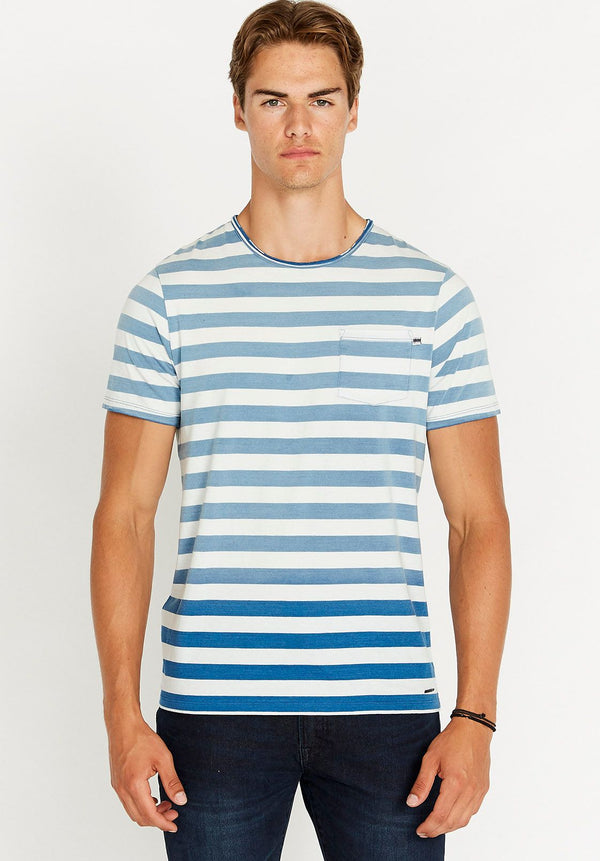 Top - Buffalo Kabulk Short Sleeve Stripe Pocket Tee