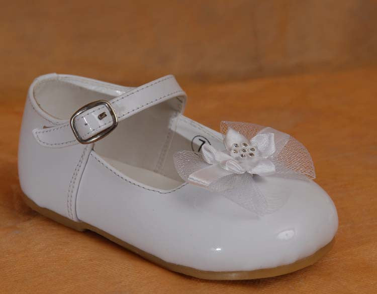 Footwear - Girls Floral Bow Accent Shoes