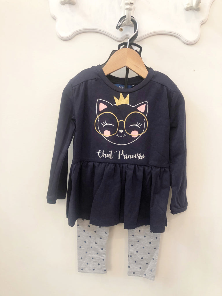 Outfit - French Cat Princess Top With Leggings