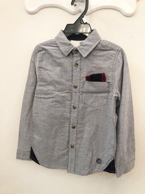 Top - Kids Oxford Long Sleeve Button Down Shirt