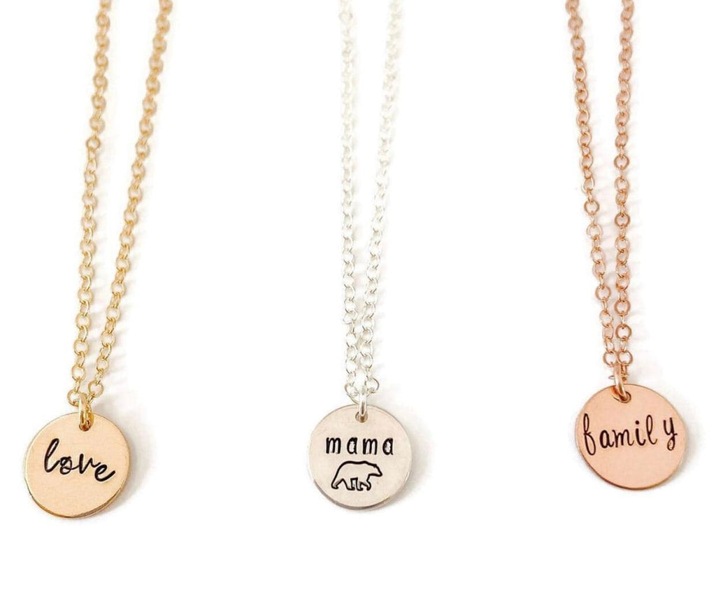 Jewelry - Ebb & Flow Small Disc Love Necklace