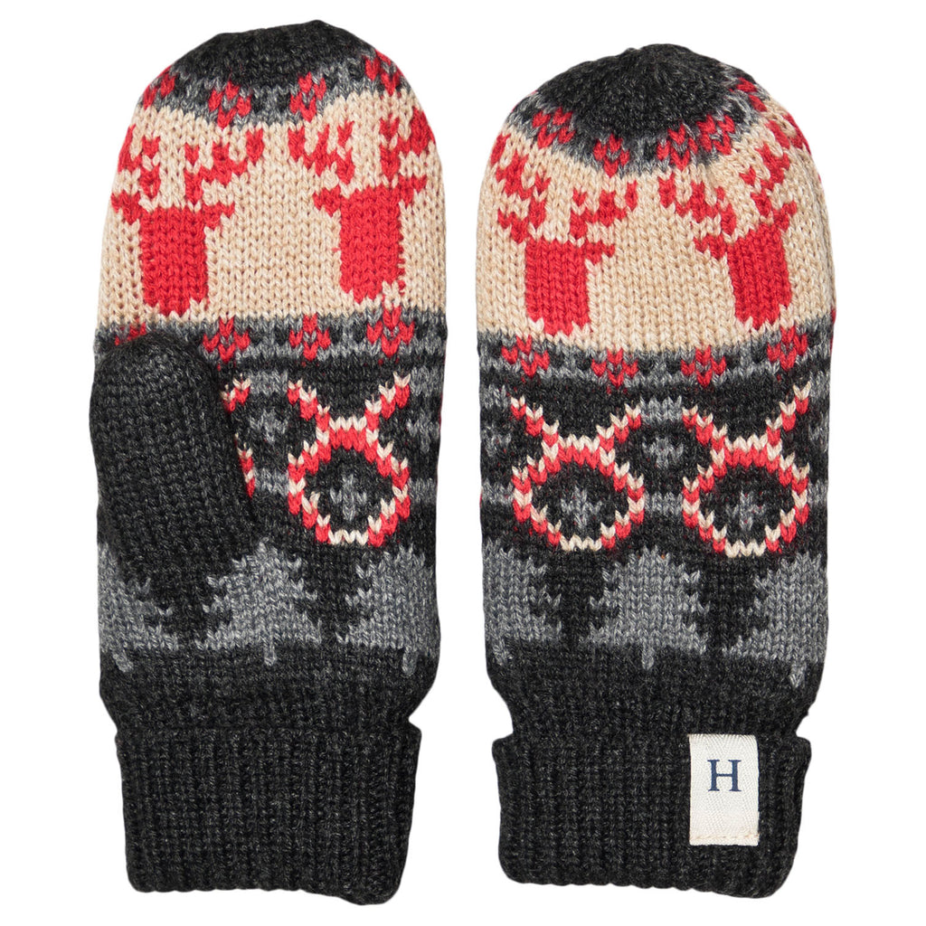 Accessory - Hatley Kids Fair Isle Stags Mittens