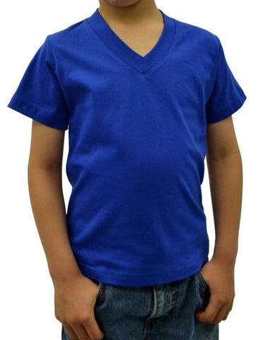 Top - Boys Premium V-Neck Shirt (Pre-Shrunk)