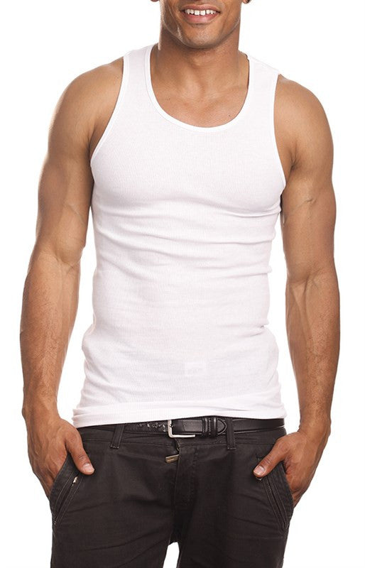 Top - Form Fitting Ribbed Under Shirts (3 Pack)