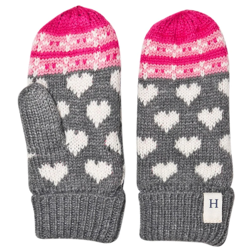 Accessory - Hatley Kids Winter Hearts Fleece Lined Mittens
