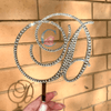 Monogram Cake Topper Birthday - Brock Font. - It's Crystalicious®