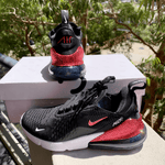 Nike Air Max 270 Black/White with Indian Pink - Ticks & Heel *