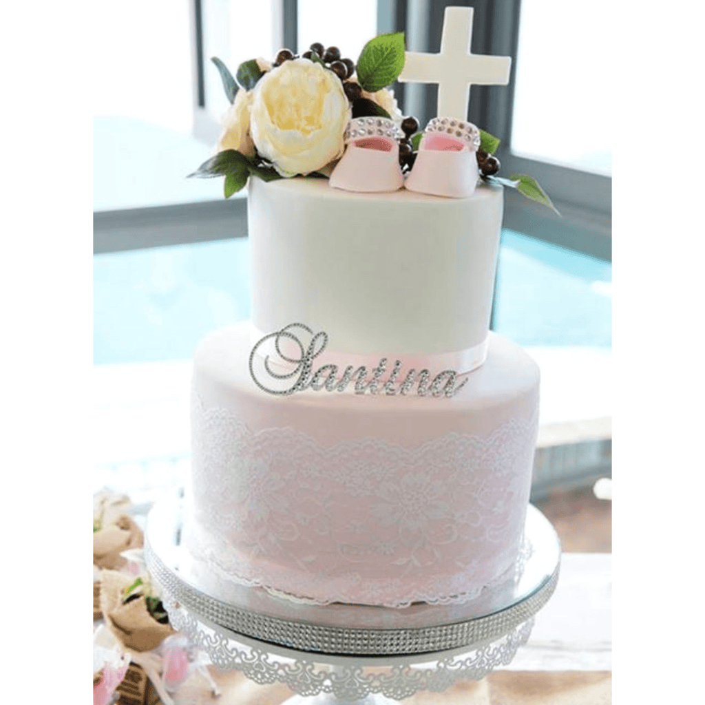 Personalised Bling Name Cake Topper - Brock Font * - It's Crystalicious®