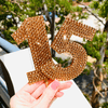 Monogram Number Cake Topper - Solid * - It's Crystalicious®