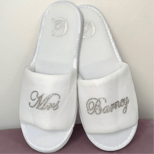 Personalised Crystal embellished Bridal Slippers *