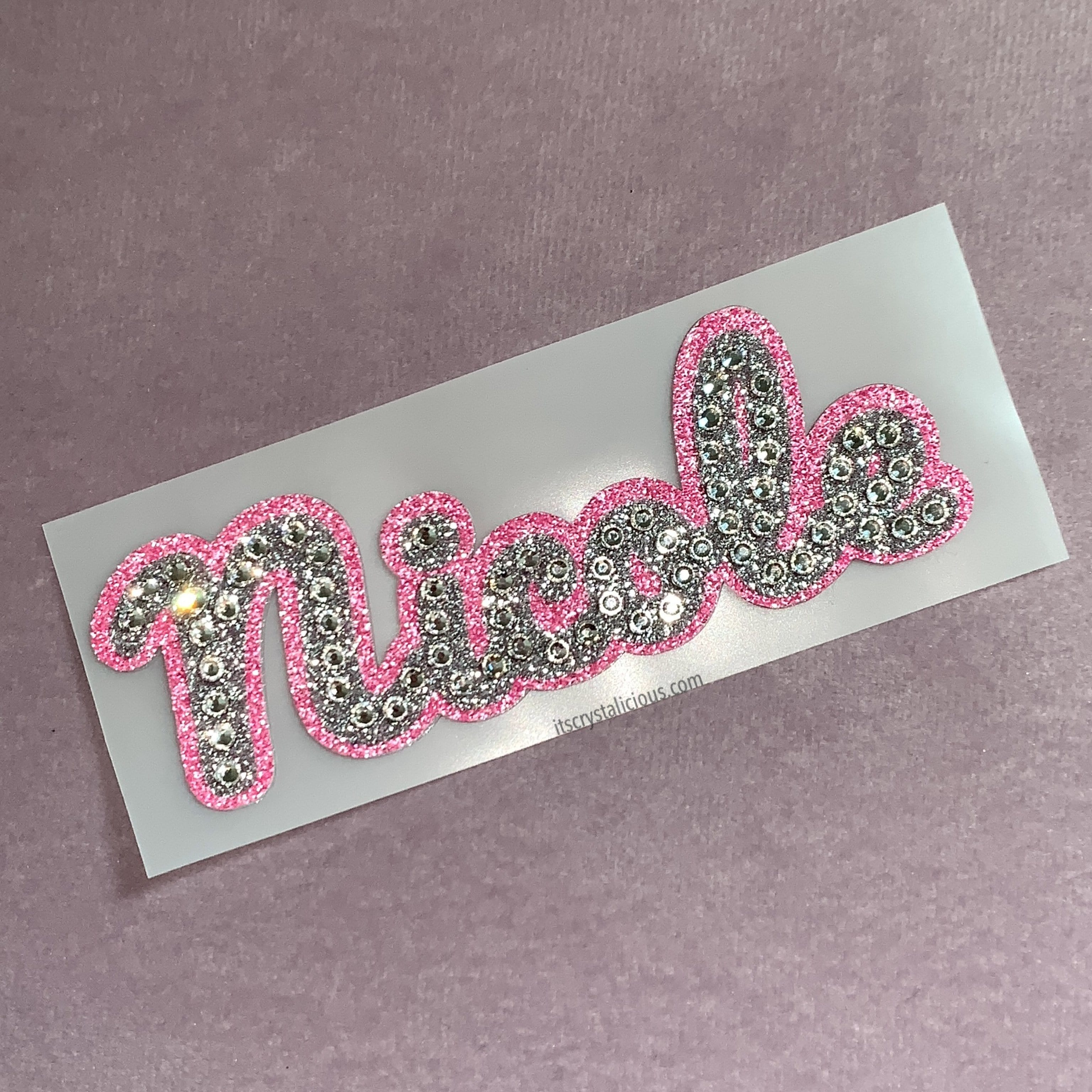 Crystal Name Decal Stickers  *