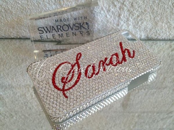 SWAROVSKI® embellished back Phone cover - Name *