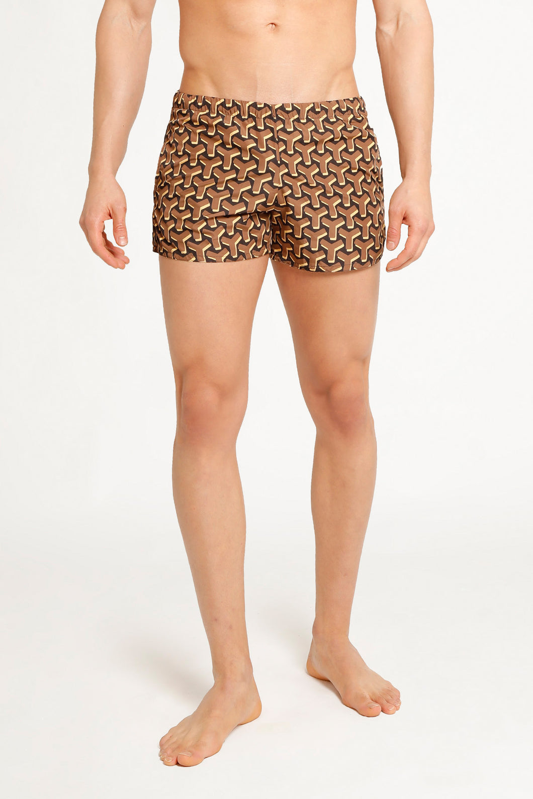 SHORTS MONOGRAM BROWN