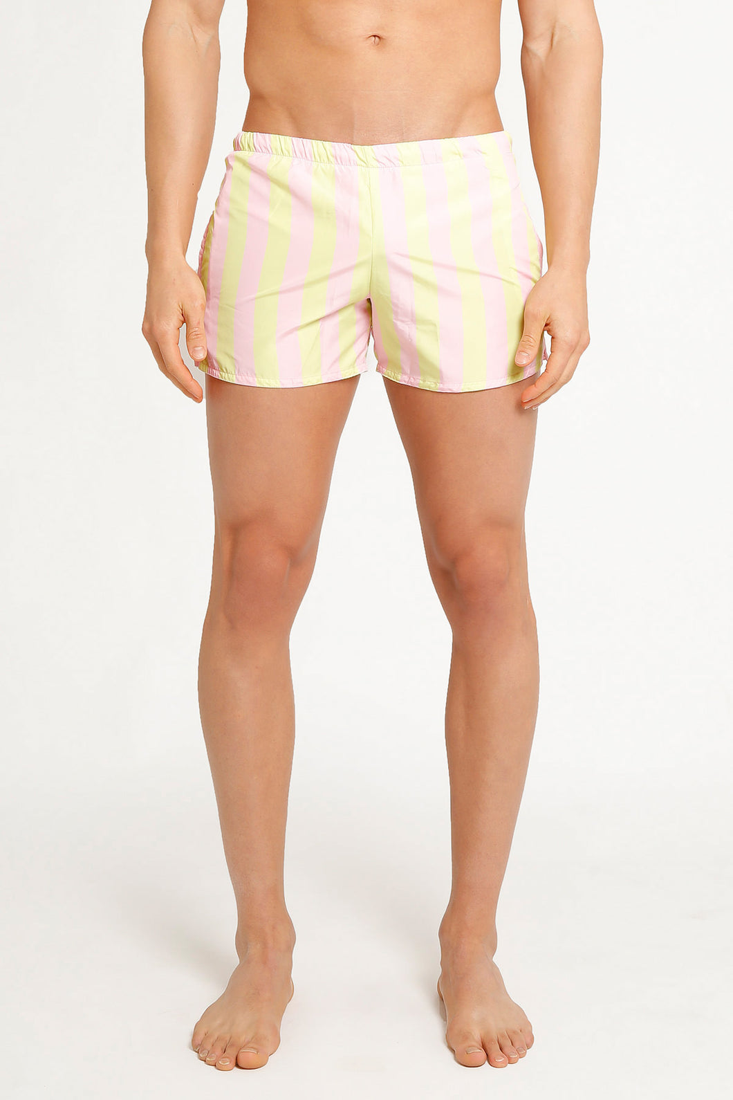 SHORTS STRIPES PINK YELLOW