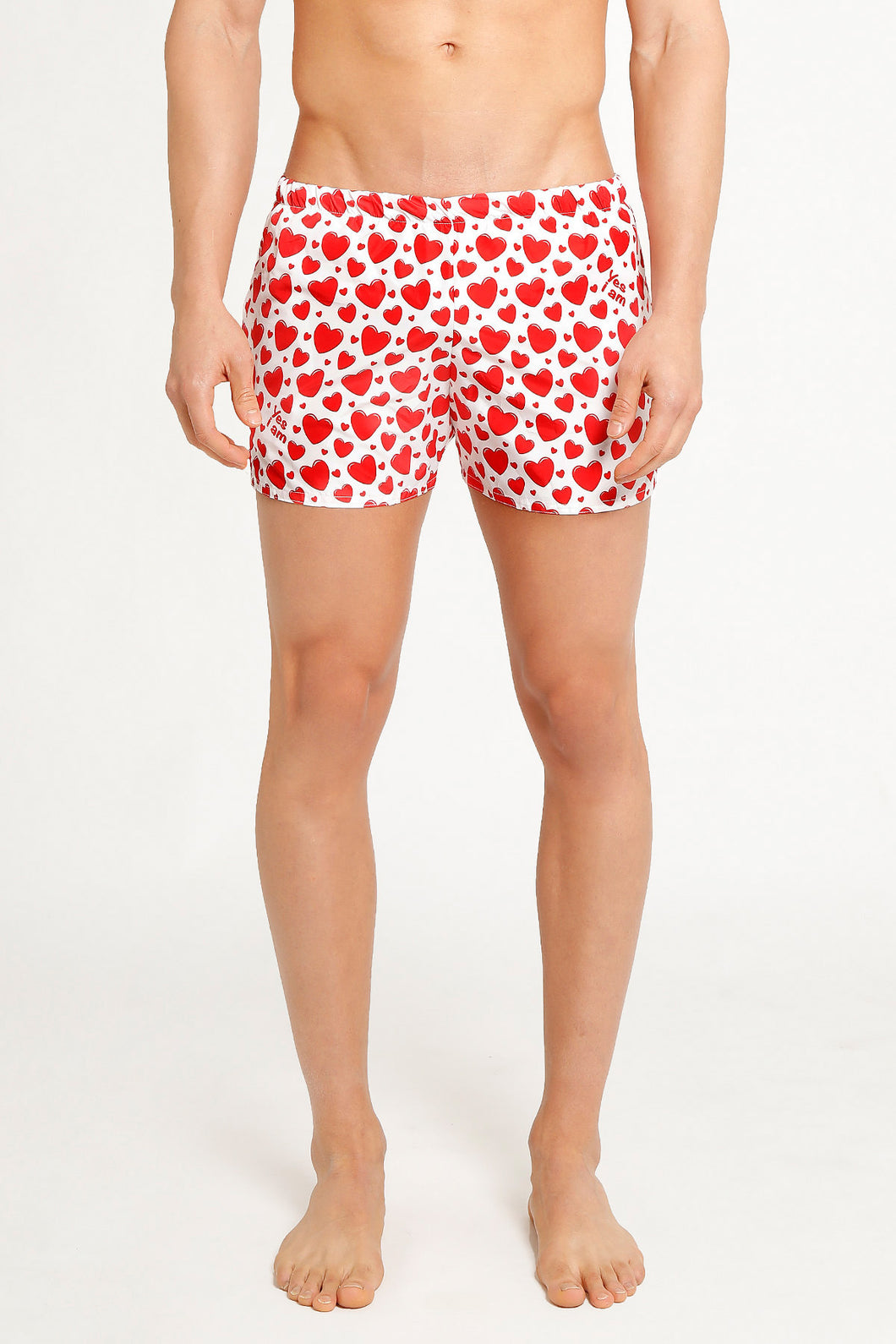 SHORTS RED HEARTS