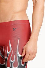 Load image into Gallery viewer, FITNESS 1/2 TIGHTS RED ON FIRE