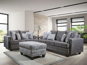 Bravado Charcoal 2 Pc Sofa & Loveseat