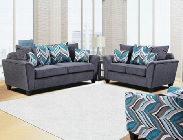 Grady Gray 2 PC Sofa & Loveseat