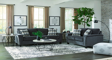 Abinger - Smoke- 2-PC Sofa & Loveseat
